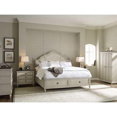 Legacy Classic Brookhaven Vintage Linen Panel Storage Bedroom Set