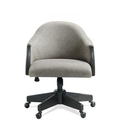 Riverside Regency  Matte Black Upholstered Desk Chair