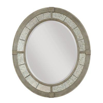 American Drew Savona  Maple& Elm Rococo Oval Mirror