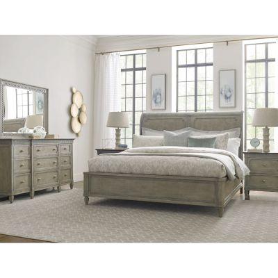 American Drew Savona Maple& Elm Anna Sleigh Bed