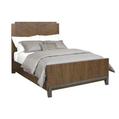 American Drew AD Modern Synergy Maple Chevron Walnut Bed