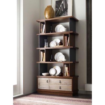 American Drew AD Modern Synergy Walnut Epoque Bookcase