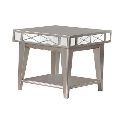 Square Mirrored End Table Mercury Lyndhurst