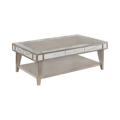 Rectangular Mirrored Coffee Table Mercury Rutherford