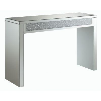 Layton Rectangular Sofa Table Silver And Clear Mirror Wallington