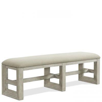 Riverside Cascade Dovetail Upholstered Dining Bench
