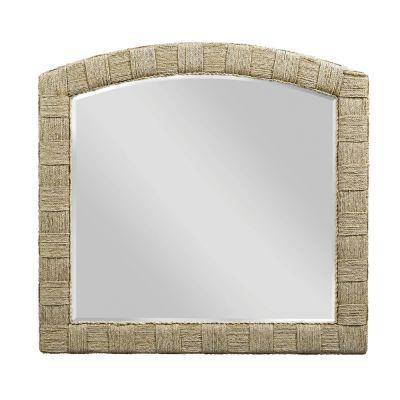 American Drew Litchfield Light Brown Weave Mirror