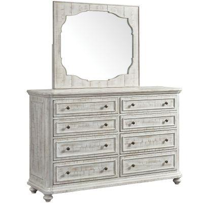 Madison Landsape Mirror-Rustic White Garfield