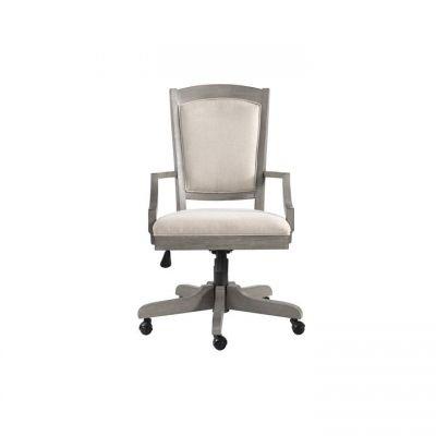 Riverside Sloane Upholstered Desk Chair in Gray Wash
