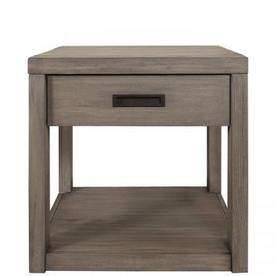 Riverside Riata Gray Wash Side Table