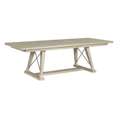 American Drew Vista Light Brown Clayton Counter Height Trestle Table