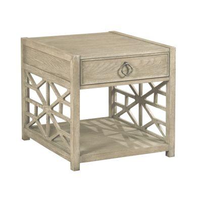 American Drew Vista Light Brown Biscayne Drawer End Table