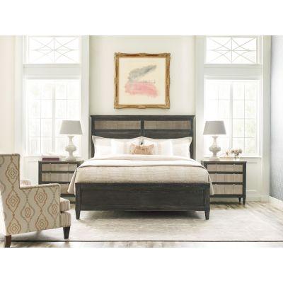 American Drew Ardennes Black Sambre Panel Bed