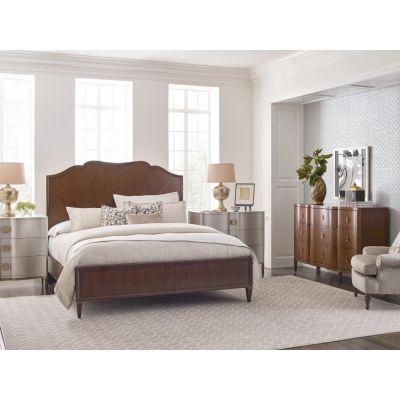 American Drew Vantage Walnut Veneers Carlisle Panel Bed