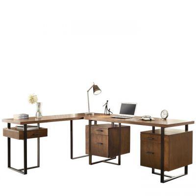 Terra Vista Casual Walnut L Shape Desk