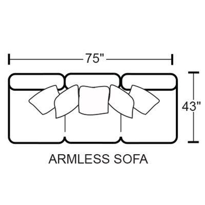 Denali 4378-30 Armless Sofa
