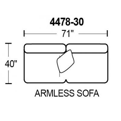 Middleton 4478-30 Armless Sofa