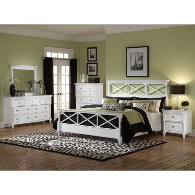 kasey White Panel Bedroom Set