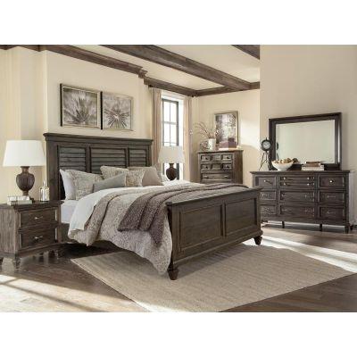 Calistoga Charcoal Shutter Panel Bedroom Set