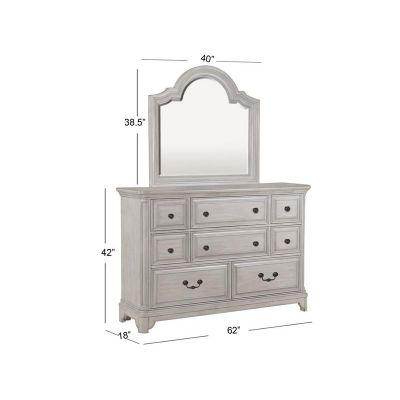 Windsor Lane Weathered White Dresser Mirror