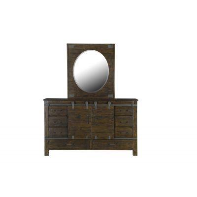 Pine Hills Rustic Pine Portrait Oval Mirror