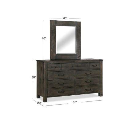 Abington Charcoal Portrait Dresser Mirror