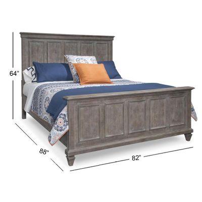 Lancaster Dovetail Grey Panel King Bed