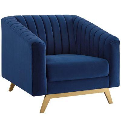 Trussle Vertical Channel Tufted Performance Velvet Armchair