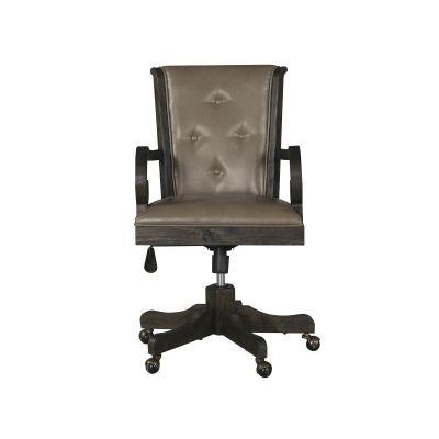 Bellamy Peppercorn Fully Upholstered Swivel Chair