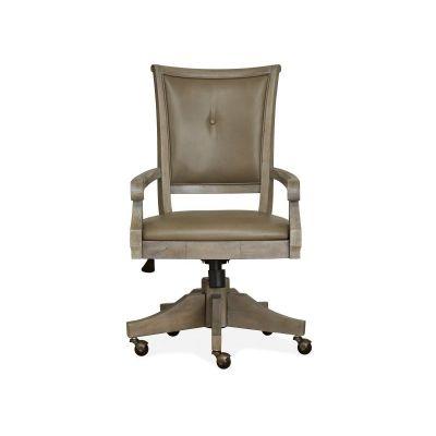 Lancaster Dovetail Grey Fully Upholstered Swivel Chair