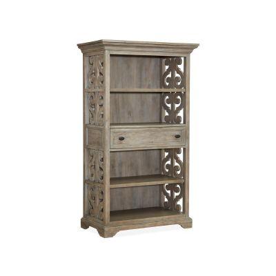 Tinley Park Dovetail Grey Bookcase