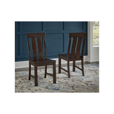 A-America Henderson Dark Brown Slatback Side Chair Set of 2