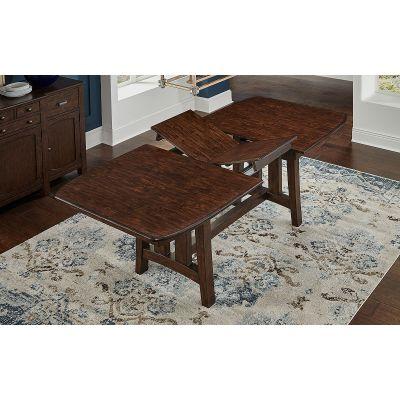 A-America Henderson 90 Inch Dark Brown Trestle Dining Table