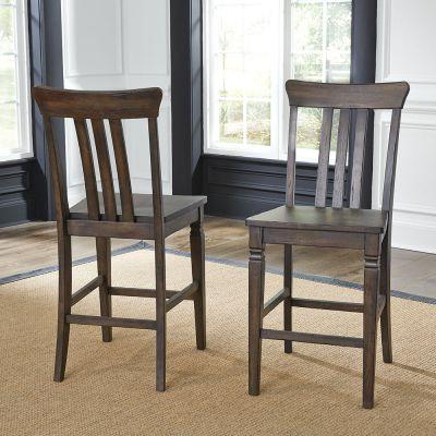 A-America Kingston Slatback Dining Side Chair in Dark Brown Set of 3