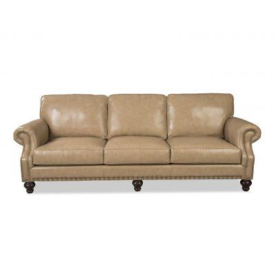 Rozo Beige Leather Sofa