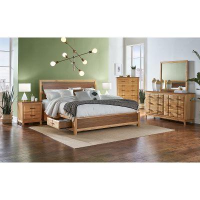 A-America Modway Natural Panel Storage Bedroom Set