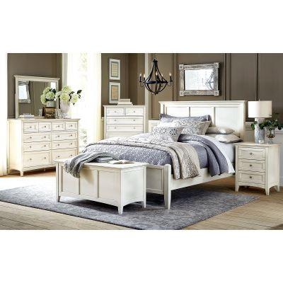 Northlake White Panel Bed