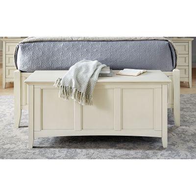 Northlake White Bedroom bench