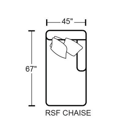 Denali 4378-72 RSF Chaise