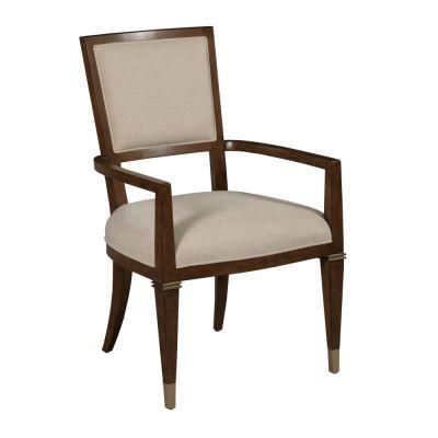 American Drew Vantage Walnut Veneers Bartlett Arm Chair