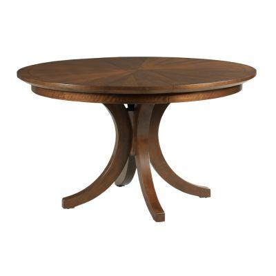 American Drew Vantage Walnut Veneers Warner Round Dining Table