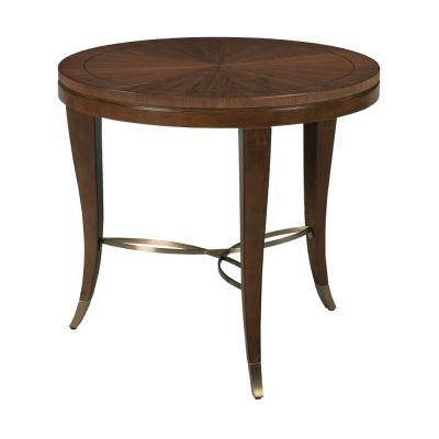 American Drew Vantage Walnut Veneers Lamp Table