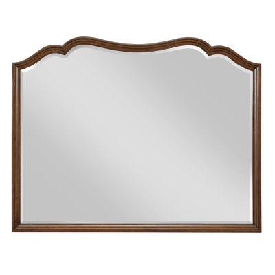 American Drew Vantage Walnut Veneers Landscape Mirror
