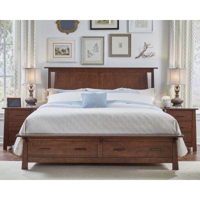 Sodo Sumatra Brown Storage Bed