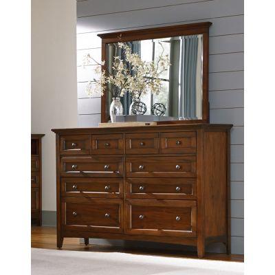 A-America Westlake Cherry Brown Ten Drawer Dresser