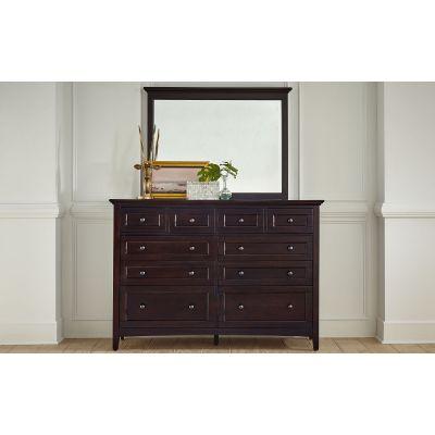 A-America Westlake Dark Mahogany Ten Drawer Dresser
